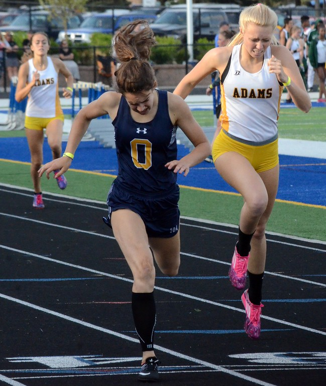 . The OAA Red track championships were held Monday at Rochester High School, with Lake Orion winning both the boys and girls competition. (Oakland Press photo gallery by Drew Ellis)