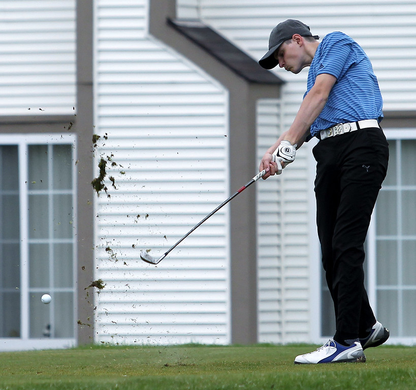 . Oakland County Championship golf action at The Links of Crystal Lake Friday, May 4, 2018. (For The Oakland Press / LARRY McKEE)