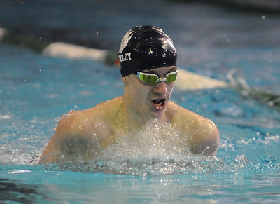 Berkley's Jack Hamilton won the 200 yard IM with a time of 1:54.60 during 2019 Oakland County Swim Championship held on Saturday February 2, 2019 at Lake Orion HS.  Catholic Central won the meet.  (Digital First Media photo by Ken Swart)