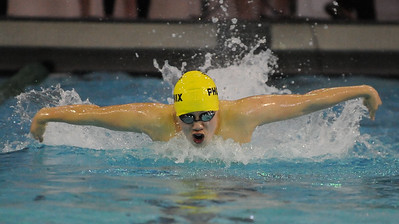 Andrew Pan of Harrison-Farmington competes in the 200 yard IM  during 2019 Oakland County Swim Championship held on Saturday February 2, 2019 at Lake Orion HS.  The Phoenix finished second overall to Catholic Central.  (Digital First Media photo by Ken Swart)