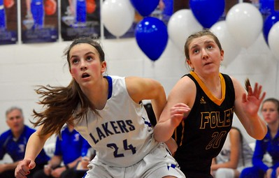 Waterford Our Lady of the Lakes hosted Madison Heights Bishop Foley for a CHSL girls basketball game on Monday, Feb. 4, 2019. (DAN FENNER - For Digital First Media)