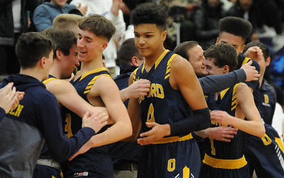 The Oxford Wildcats defeated the Pontiac Phoenix 76-39 to take over sole possession of first place in the OAA Blue Division in the game played on Tuesday February 19, 2019 at Pontiac High School.  (KEN SWART for Media News Group)