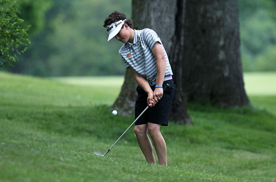 Region 3 championship golf action at Dunham Hills Golf Club in Hartland Thursday, May 31, 2018. (For The Oakland Press / LARRY McKEE)