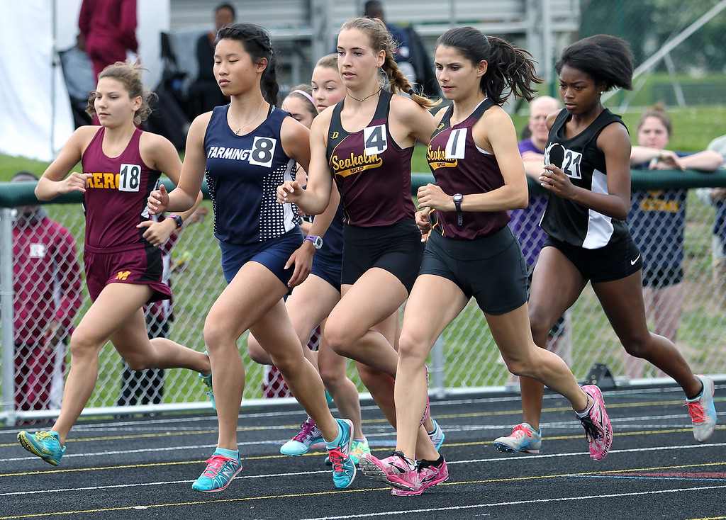 . Region 6 final track action at West Bloomfield Saturday, May 19, 2018. (For The Oakland Press / LARRY McKEE)