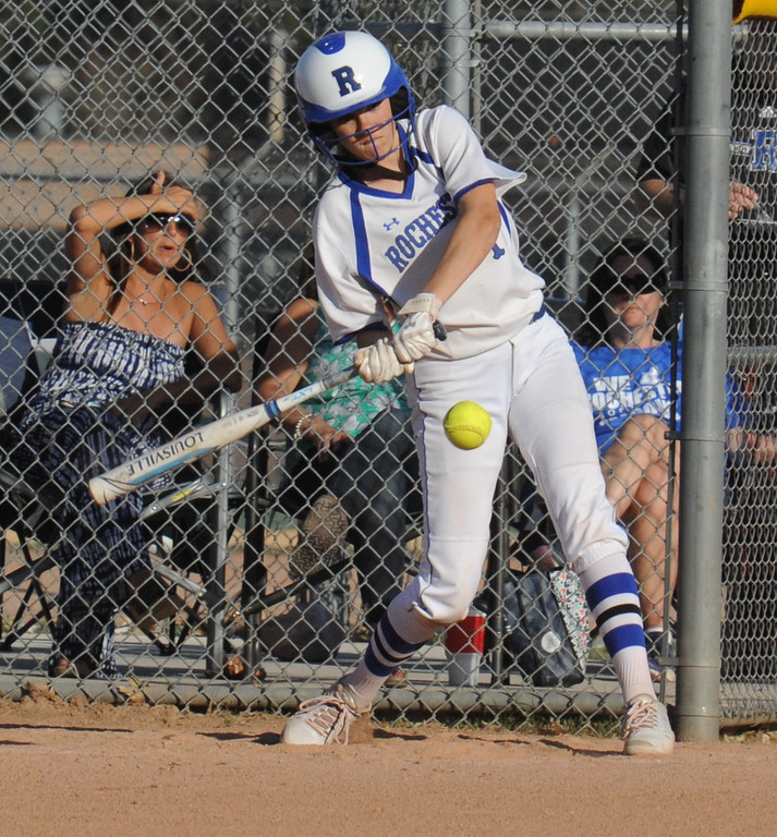 . The Rochester Falcons swept a doubleheader over Berkley 10-2, 14-0 (5 innings).  The games were played on Tuesday May 1, 2018 at Rochester High School.  (Oakland Press photo by Ken Swart)