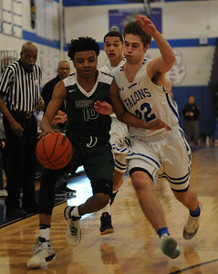 The Birmingham Groves Falcons defeated the Rochester Falcons 48-34 in the OAA White battle played on Friday February 15, 2019 at Rochester High School.  (KEN SWART - For Media News Group)