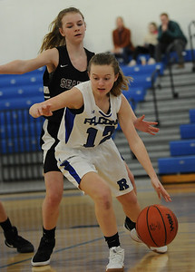 The Rochester Falcons defeated the Birmingham Seaholm Maples 39-29 in the OAA Blue match up played on Tuesday January 29, 2019 at Rochester HS.  Rochester moves to 6-0 in the OAA Blue.  (Digital First Media photo by Ken Swart)