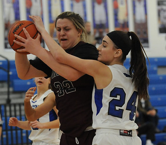 The Rochester Falcons defeated the Hazel Park Vikings 53-22 in the OAA Blue battle played on Wednesday February 13, 2019 at Rochester HS.  The win moves the Falcons to 7-0 in the league.  (KEN SWART - for Media News Group)