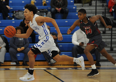 The Southfield A&T Warriors defeated the Rochester Falcons 72-45 in the OAA White match up played on Monday February 4, 2019 at Rochester HS.  The win moves the Warriors to 5-3 in the league while Rochester falls to 0-8.  (Digital First Media photo by Ken Swart)