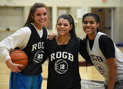 Seniors (from left) Samantha Potter, Nila Coney and Jessica Adams have been a big part of Royal Oak's success over the past few years, which have seen the Ravens win an OAA White title and start this season a perfect 12-0. (Digital First photo by Jason Schmitt)