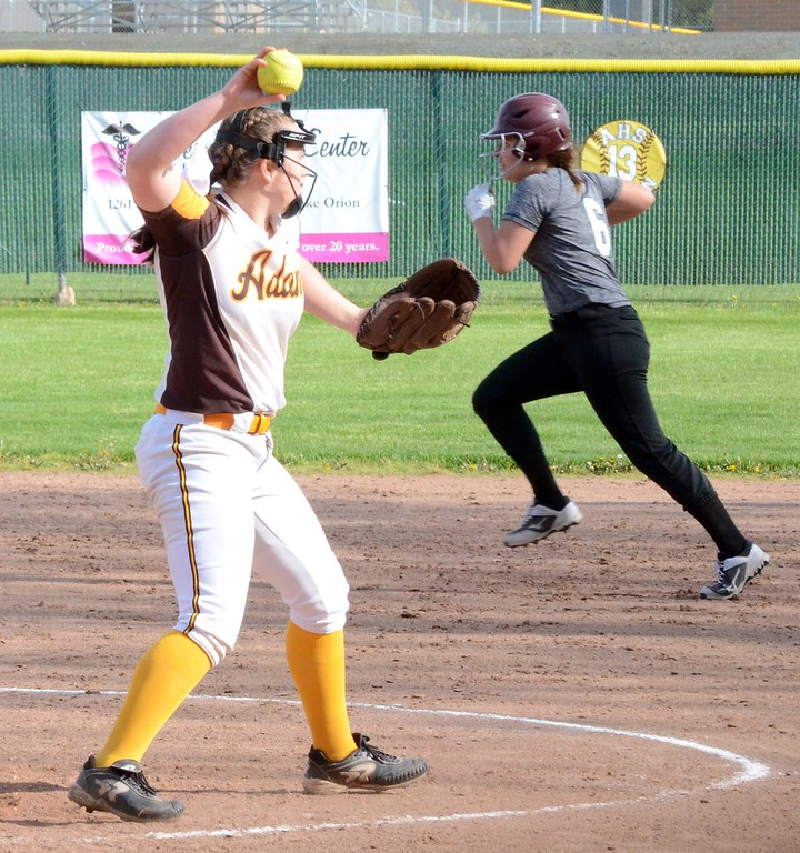 . Rochester Adams and Birmingham Seaholm split a pair of softball games on Thursday. The split allowed the Highlanders to secure the OAA White championship. (Oakland Press photo gallery by Drew Ellis)