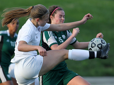 Birmingham Seaholm and West Bloomfield square off in varsity soccer action Seaholm High School Thursday, May 17, 2018. (For The Oakland Press / LARRY McKEE)