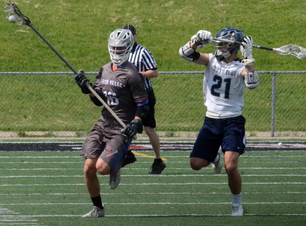 . South Lyon United picked up an 11-6 win over Huron Valley United in a D1 boys lacrosse regional semifinal at Walled Lake Northern on Thursday. (Oakland Press photo gallery by Drew Ellis)