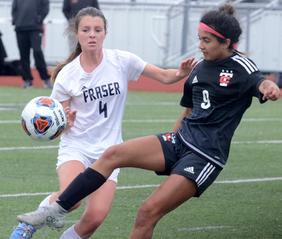 . The Troy High School girls soccer team defeated Fraser, 3-0, in the Division 1 regional semifinal at Troy Athens High School on Tuesday. (Oakland Press photo gallery by Drew Ellis)