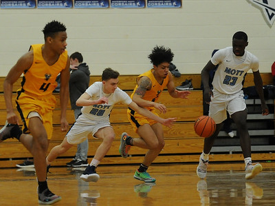 The Waterford Mott Corsairs defeated the Walled Lake Central Vikings 84-57 in the Lakes Valley Conference game played on Friday February 1, 2019 at Waterford Mott HS.  (Digital First Media photo by Ken Swart)