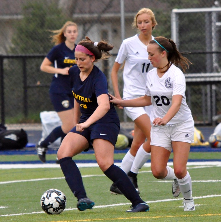 . Waterford Mott hosted Walled Lake Central for a Lakes Valley Conference girls soccer game on Thursday, May 3, 2018. (Photo gallery by Dan Fenner/The Oakland Press)