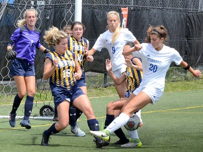 Birmingham Marian defeated Trenton in a D2 girls soccer regional final at Marian on Thursday afternoon, 5-0. (Digital First Media photo gallery by Drew Ellis)