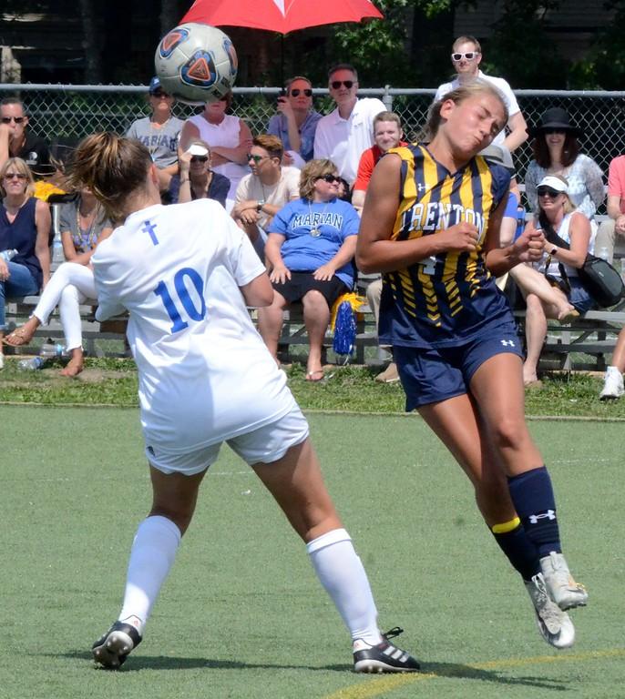. Birmingham Marian defeated Trenton in a D2 girls soccer regional final at Marian on Thursday afternoon, 5-0. (Digital First Media photo gallery by Drew Ellis)