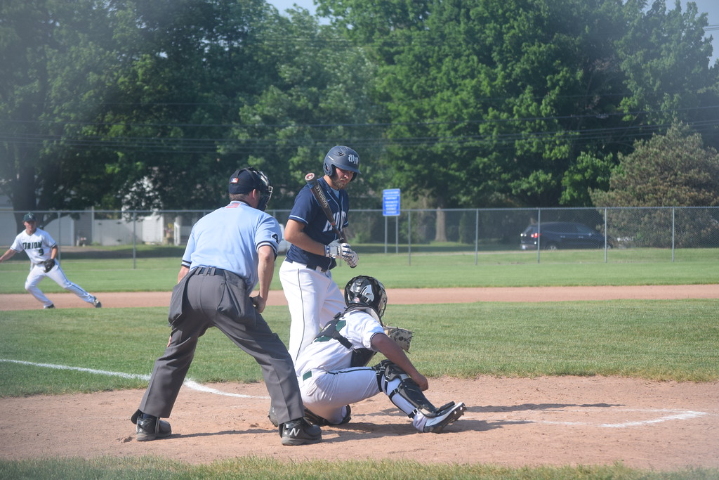 . Waterford Mott edged Lake Orion,  8-7, in district baseball on Tuesday at Clarkston High School. (Photo by Paula Pasche)