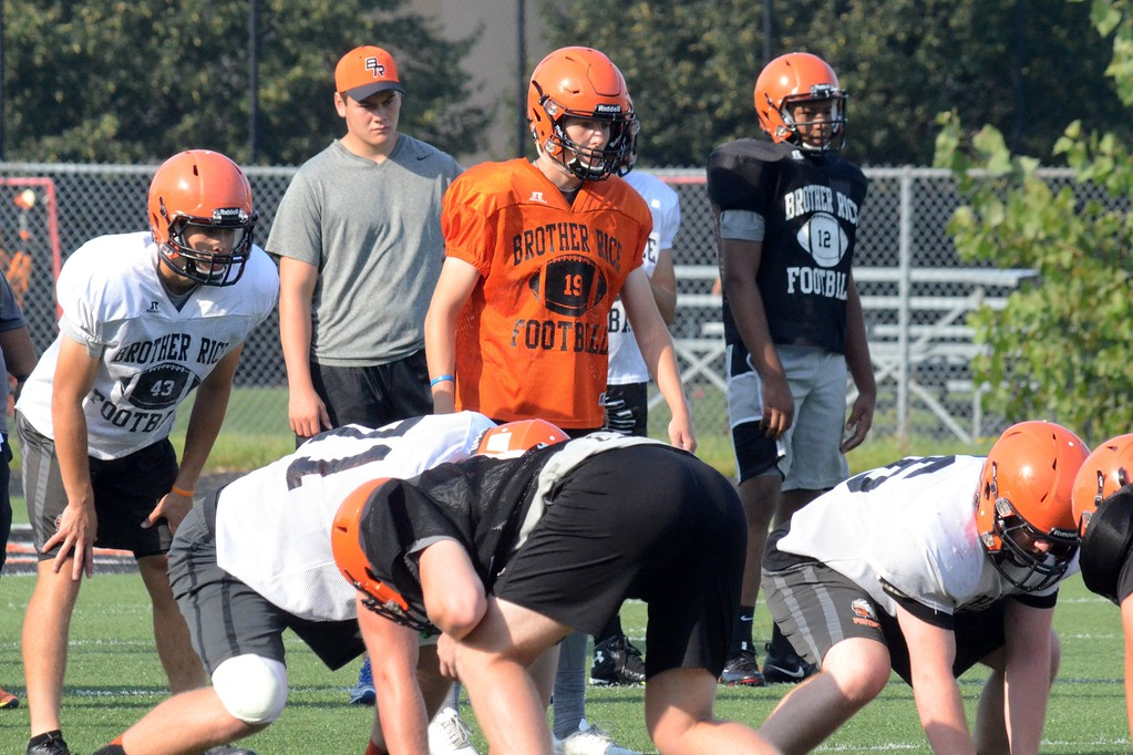 . Birmingham Brother Rice brings in a new coach for the 2017 season. Adam Korzeniewski takes over the program, which went 7-4 last season. (Oakland Press photo by Drew Ellis)