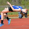 Brooke Kilyk competes in the high jump. Holly's boys had an easy victory but Ortonville Brandon's girls were chased to the wire in a Flint Metro League track and field meet Tuesday between the only Oakland County teams in the conference. (MIPrepZone photo gallery by MARVIN GOODWIN).