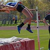 Brandon's Brooke Kilyk wins the high jump. Holly's boys had an easy victory but Ortonville Brandon's girls were chased to the wire in a Flint Metro League track and field meet Tuesday between the only Oakland County teams in the conference. (MIPrepZone photo gallery by MARVIN GOODWIN).