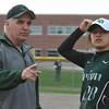 Softball action from Saturday's tournament held at Lake Orion High School.  Several teams from Oakland and Genesee Counties participated.  Lake Orion won the title by defeating Oxford 1-0 in the championship game.  (MIPrepZone photo by Ken Swart)