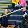 Lake Orion picked up a five-set win at Clarkston on Tuesday by scores of 27-25, 18-25, 24-26, 25-21, 15-13. (MIPrepZone photo by Drew Ellis)