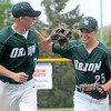 Lake Orion earned a share of the OAA Red baseball title on Wednesday thanks to a 10-0 win over Stoney Creek in five innings. (MIPrepZone photo by Drew Ellis)