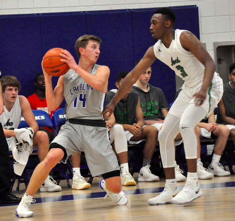 . Novi and Lakeland faced off in a Class A boys basketball regional semifinal game at Salem High School on Monday, March 12, 2018. (Photos by Dan Fenner/The Oakland Press)