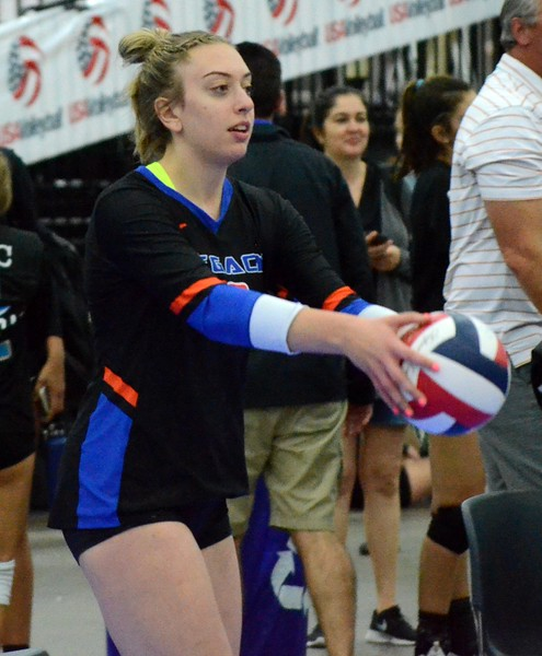 The Legacy 16-Elite volleyball team, which features a handful of Oakland County players, finished 10th nationally in the 16 Open of the USA Volleyball Junior National Championships this past week at Cobo Center in Detroit. (Oakland Press photo gallery by Drew Ellis)