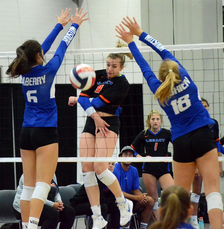 . The Legacy 16-Elite volleyball team, which features a handful of Oakland County players, finished 10th nationally in the 16 Open of the USA Volleyball Junior National Championships this past week at Cobo Center in Detroit. (Oakland Press photo gallery by Drew Ellis)