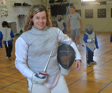 If she's not handling emergency room situations at  St. Joseph''s Hospital in Pontiac, or taking care of matters as captain of the US Olympic fencing team, Dr. Ann Marsh-Senic will engage in a bit of foiling of her own. (Marvin Goodwin photo).