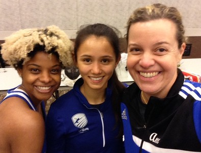 Nzingha Prescod and Lee Keifer join Dr. Ann Marsh-Senic, US Olympic fencing team captain, for a photo opportunity. (Photo contributed).