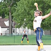 Clawson won a make-up game against Warren Lincoln, 20-5 in a four-inning mercy on Friday, June 2, 2017. The victory gave the Trojans a share of the Macomb Area Conference Bronze Division title. (MIPrepZone photo by Matthew B. Mowery)