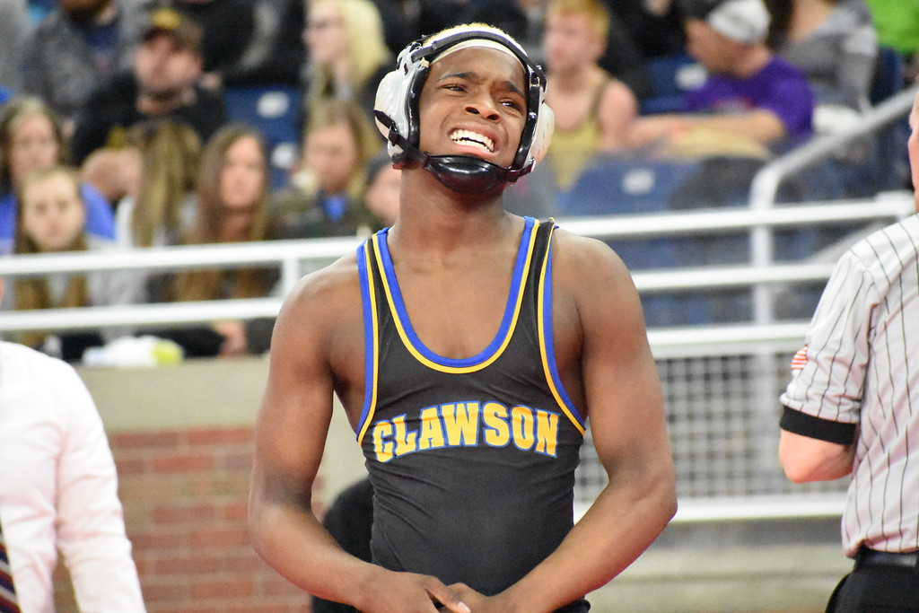 . The state\'s best wrestlers converged at Ford Field on Saturday for Day 2 of the MHSAA Individual Wrestling Finals. All those who competed earned all-state honors, with the best of the best crowned state champions. (Digital First Media photo by Jason Schmitt)
