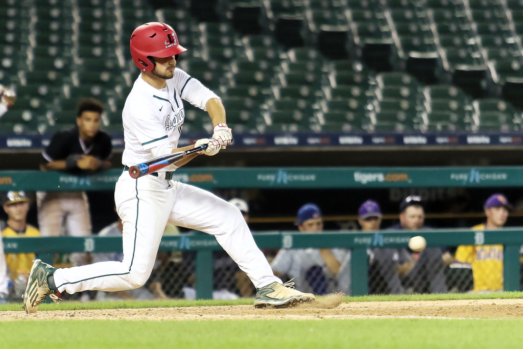 . The West jumped out to an early 2-0 lead in the 37th Annual MHSBCA East-West All-Star Game at Comerica  Park but the East roared back to take home a 7-4 victory Friday June 29th, 2018 in Detroit. (Oakland Press photo by Timothy Arrick)