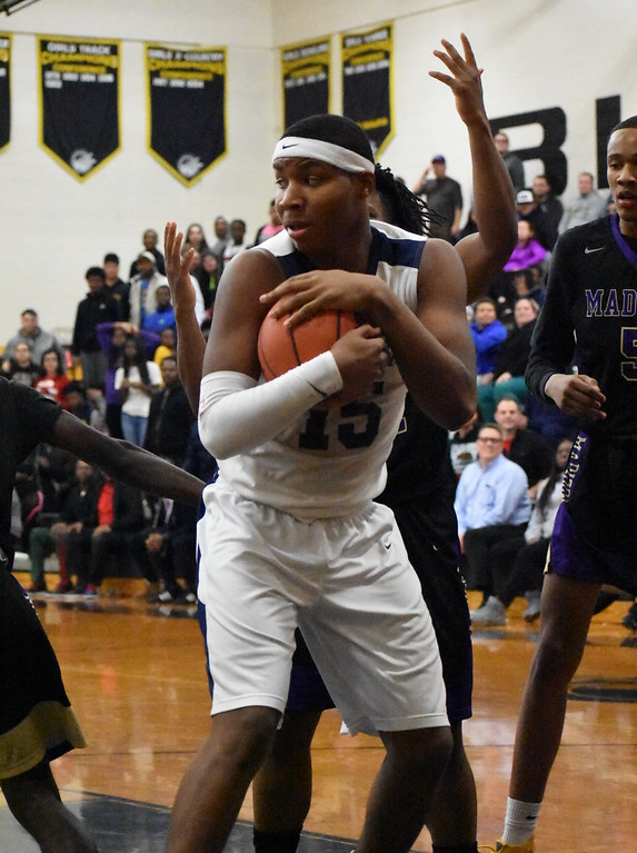 . Madison bowed out of the Class C state tournament after a 70-66 regional loss to Detroit Loyola at Madison Heights Bishop Foley High School. (Digital First Media photo by Jason Schmitt)