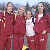Mallory Barrett (from left), Victoria Heiligenthal, Abby Knapp and Breann Marsh comprised Milford's winning 4 x 400 relay unit which clinched the meet victory over Brighton. (Submitted photo).