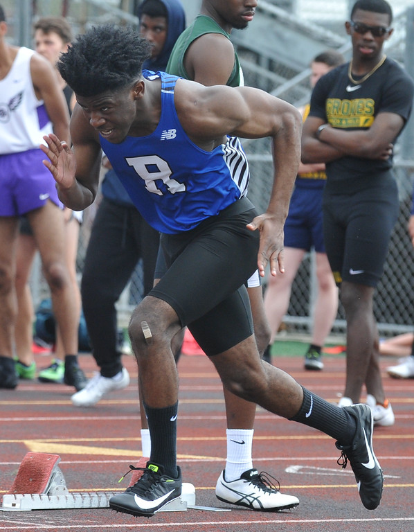 . 21 Oakland County teams participated in the 2nd annual New Balance Invitational track meet held on Saturday May 5, 2018 at Farmington High School.  (Oakland Press photo by Ken Swart)