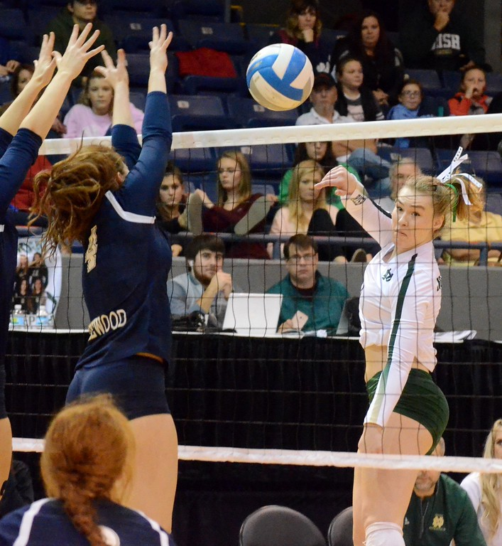 . The Pontiac Notre Dame Prep won the Class B state championship on Saturday by defeating Lakewood in three sets at Kellogg Arena in Battle Creek. (Oakland Press photo gallery by Drew Ellis)