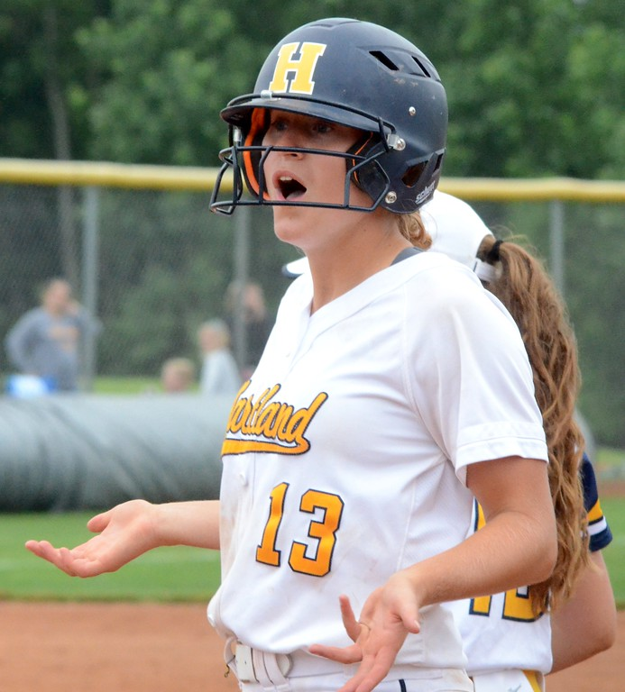 . The Hartland softball team defeated South Lyon, 4-2 in eight innings, on Sunday to win the Division 1 regional at Novi High School. Walled Lake Northern and North Farmington also took part in the 4-team tournament, which started on Saturday. (Oakland Press photo gallery by Drew Ellis)