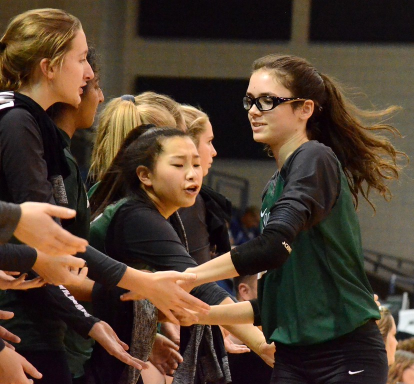 . The Novi volleyball team punched its ticket to a fourth consecutive appearance in the Class A state finals thanks to a sweep of DeWitt on Thursday night in the state semifinals at the Kellogg Arena. (Oakland Press Photo gallery by Drew Ellis)