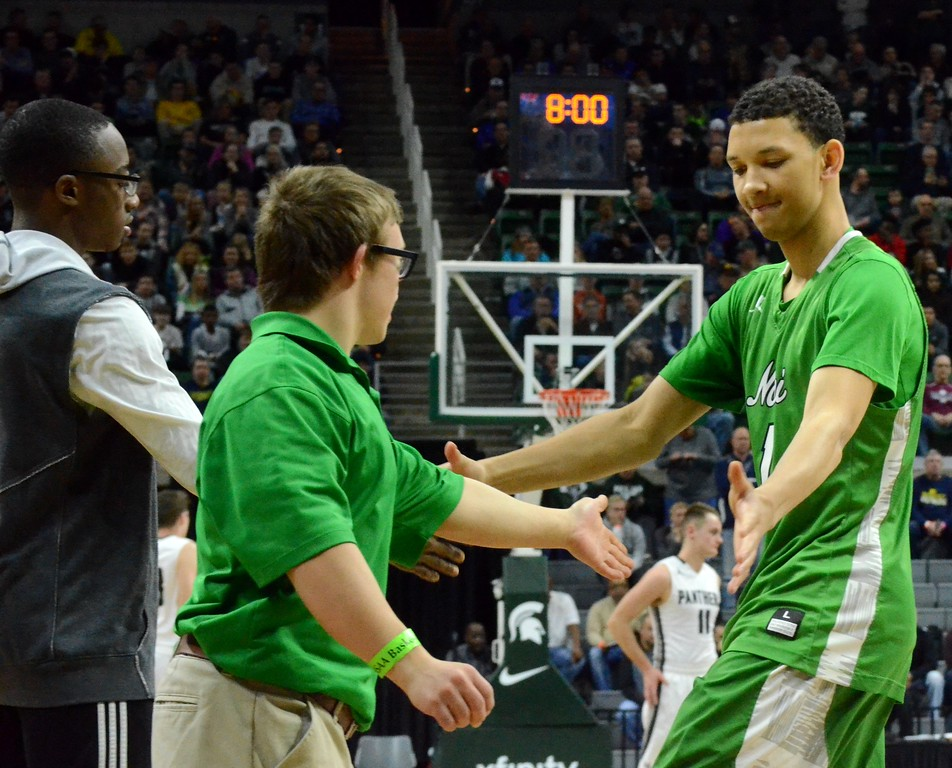 . Novi fell to Holland West Ottawa in the Class A boys basketball semifinal on Friday at the Breslin Center in East Lansing. (Oakland Press photo gallery by Drew Ellis)