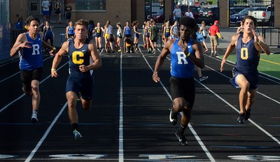 The OAA Red track championships were held Monday at Rochester High School, with Lake Orion winning both the boys and girls competition. (Oakland Press photo gallery by Drew Ellis)