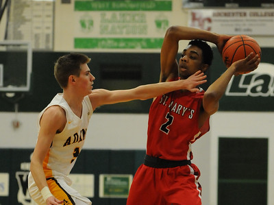The Orchard Lake St Mary's Eaglets defeated the Rochester Adams Highlanders 41-35 in the MHSAA Class A Regional semi-final played on Monday March 12, 2018 at West Bloomfield High School.  (Oakland Press photo by Ken Swart)