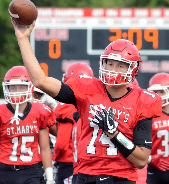 . Macomb Dakota handed Orchard Lake St. Mary\'s a 31-24 defeat when the two opened the season on Thursday in Orchard Lake. (Digital First Media photo by Drew Ellis)