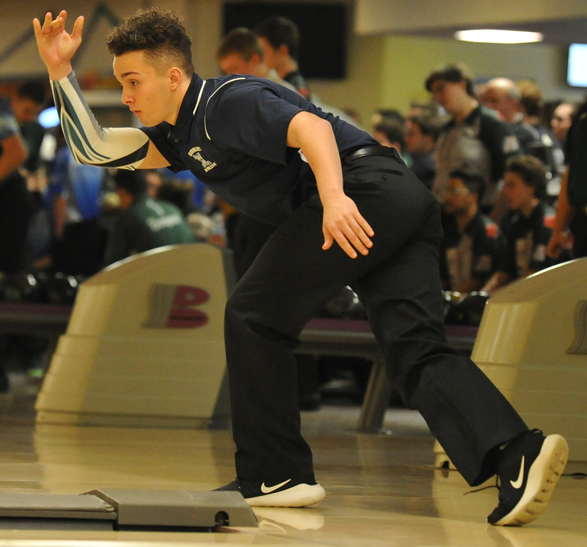 . The Oxford Wildcats won the Oakland County Bowling Tournament held on Sunday January 14, 2018 at Cherry Hill Lanes in Clarkston.  Farmington Harrison finished second, while North Farmington was third.  (Oakland Press photo by Ken Swart)