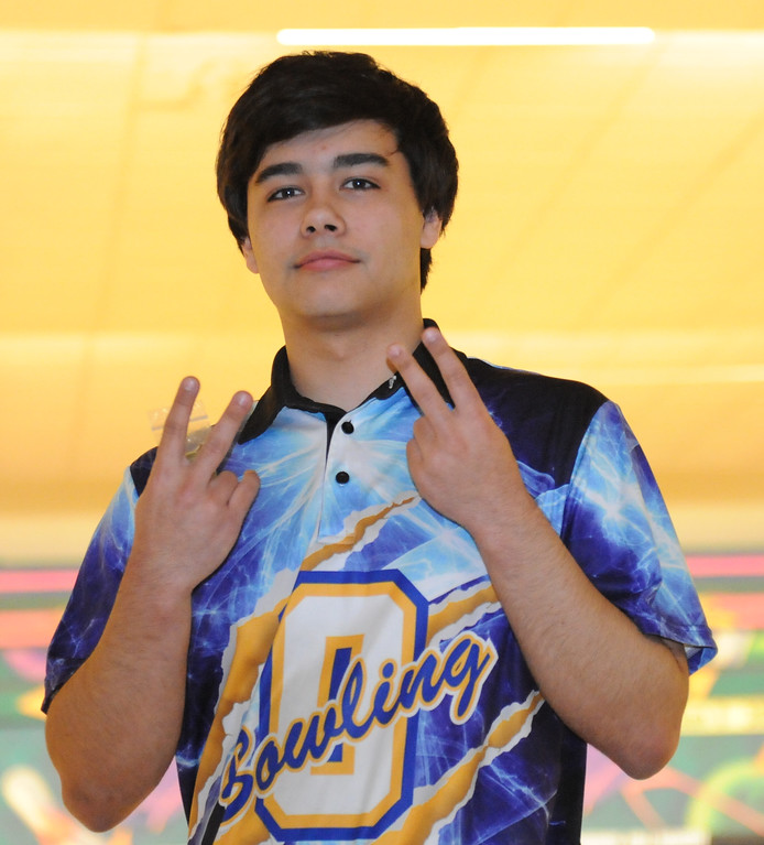 . Oxford\'s Jimmy Demhal had the high game (267) at the Oakland County Bowling Tournament held on Sunday January 14, 2018 at Cherry Hill Lanes in Clarkston.  Demhal helped lead the Wildcats to the title defeating Farmington Harrison in the finals.  (Oakland Press photo by Ken Swart)