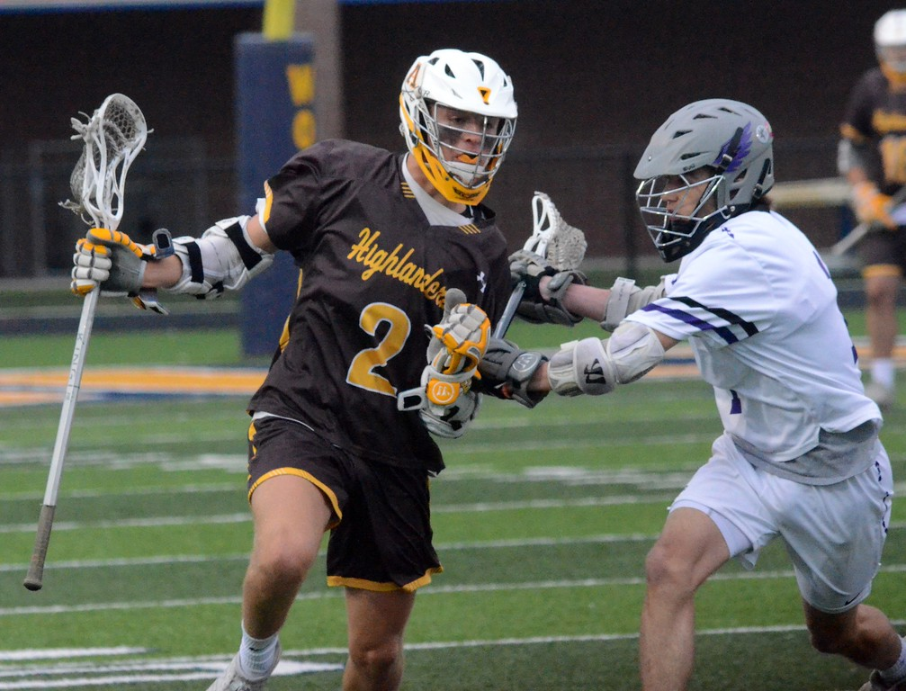 . Bloomfield Hills defeated Rochester Adams in the Division 1 boys lacrosse regional semifinal at Clarkston High School, 12-9, on Tuesday night. (Oakland Press photo gallery by Drew Ellis)